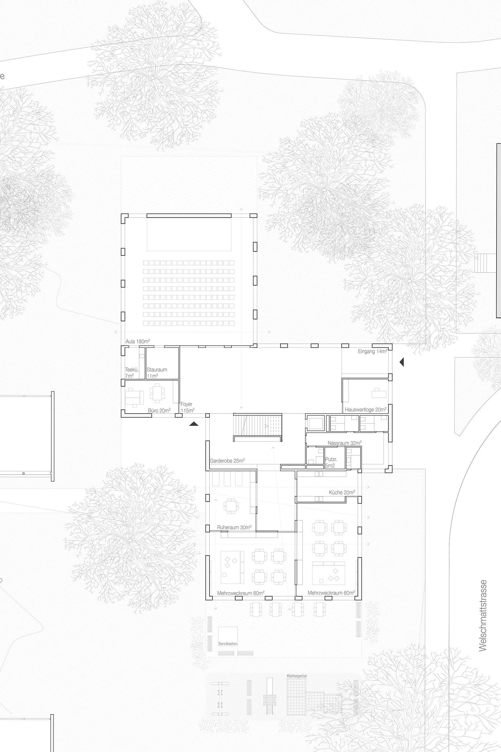 Primarschule Wasgenring, Basel Erweiterungsbau